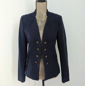 NWT H&M Navy Blue Military Button Blazer size 8